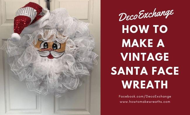 How to make a vintage Santa wreath