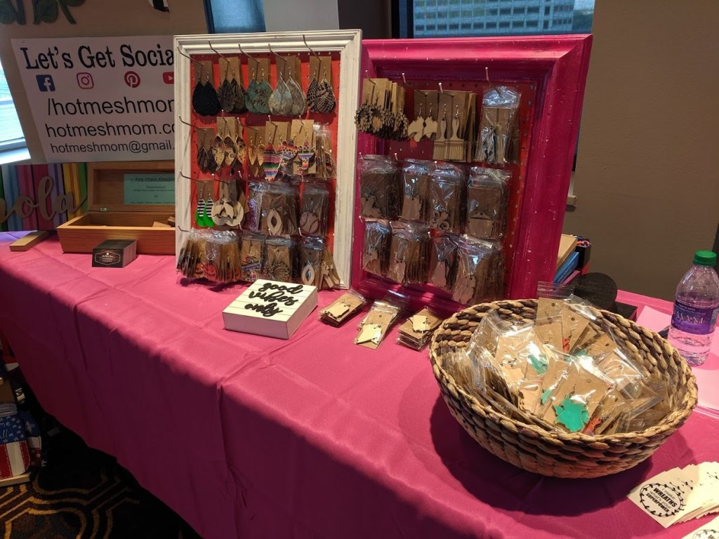 Displaying your products when you sell at craft fairs.