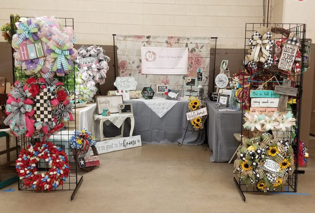 Booth presentation when you sell at craft fairs. Trisha Hildebrand - Dress Up Your Door