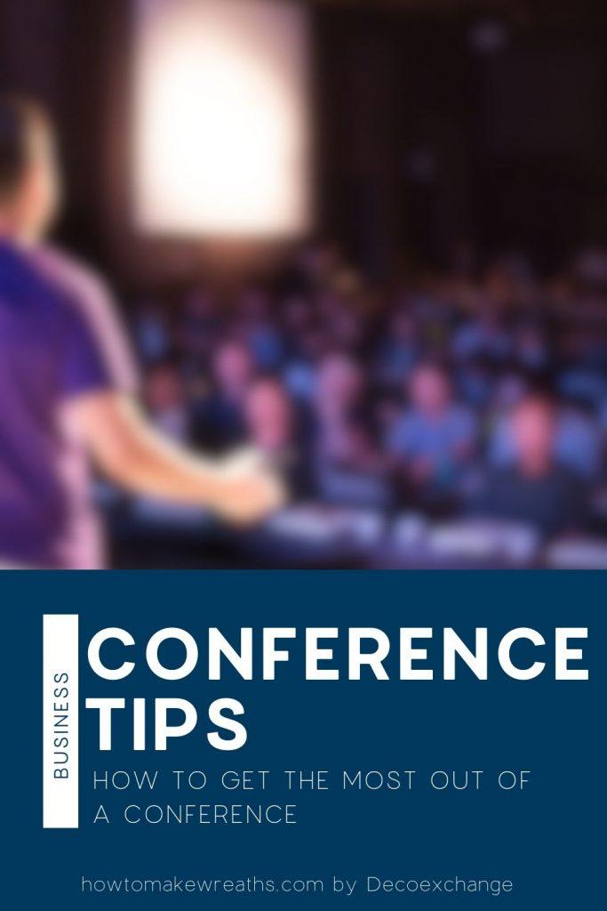 man talking at conference