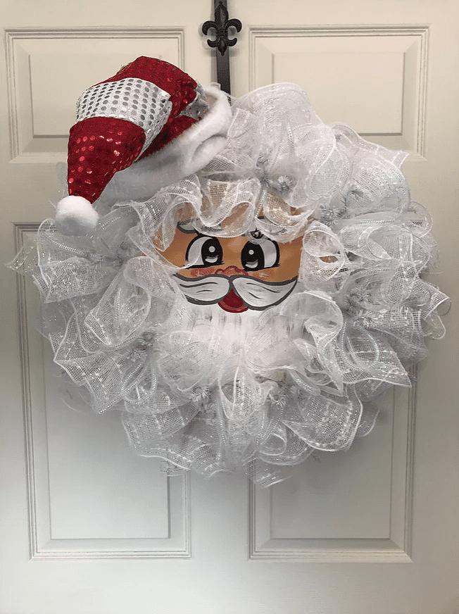 vintage Santa DIY Christmas wreath