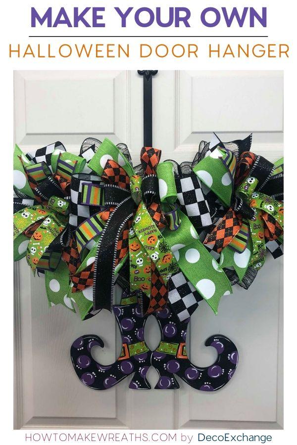 Make your own Halloween Door Hanger in less than 15 minutes!