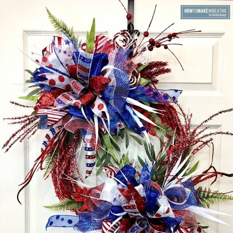 Patriotic wreath made with Pro Bow