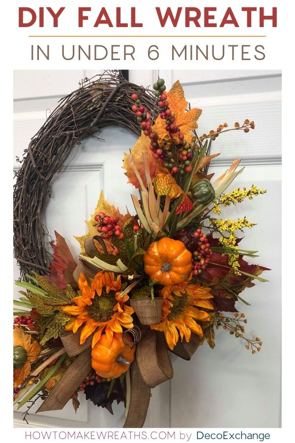 DIY Fall Wreath in under 6 minutes