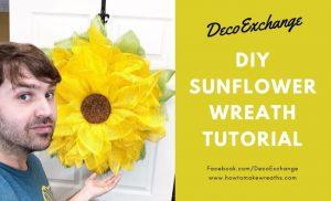 DIY Sunflower Wreath Tutorial