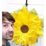 Sunflower wreath pin image