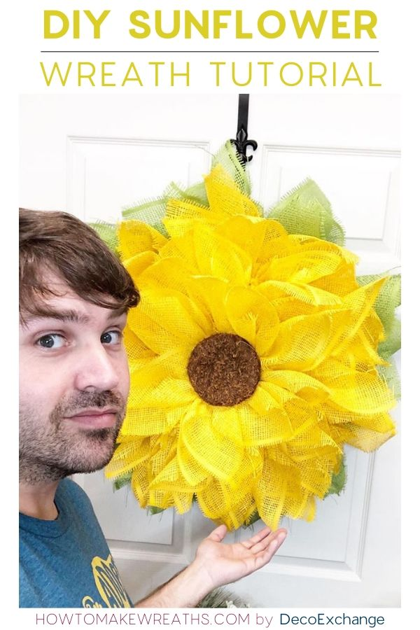 DIY Sunflower Wreath Video Tutorial
