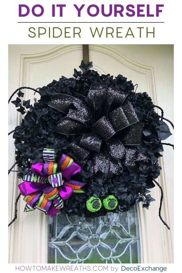 DIY spider wreath
