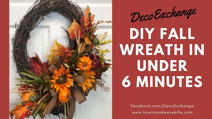 Make a Designer DIY Fall Wreath in Under 6 Minutes