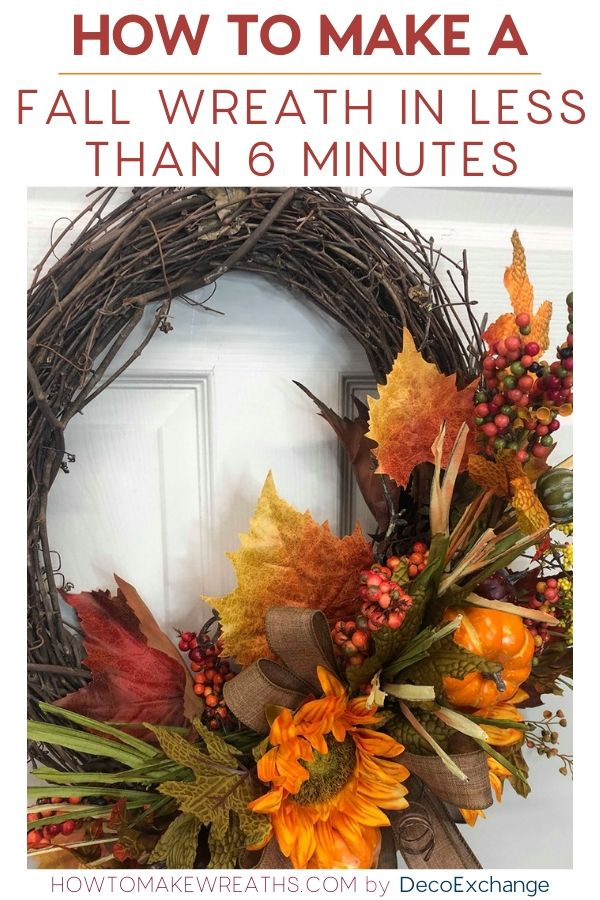 How to make a fall wreath in less than 6 minutes