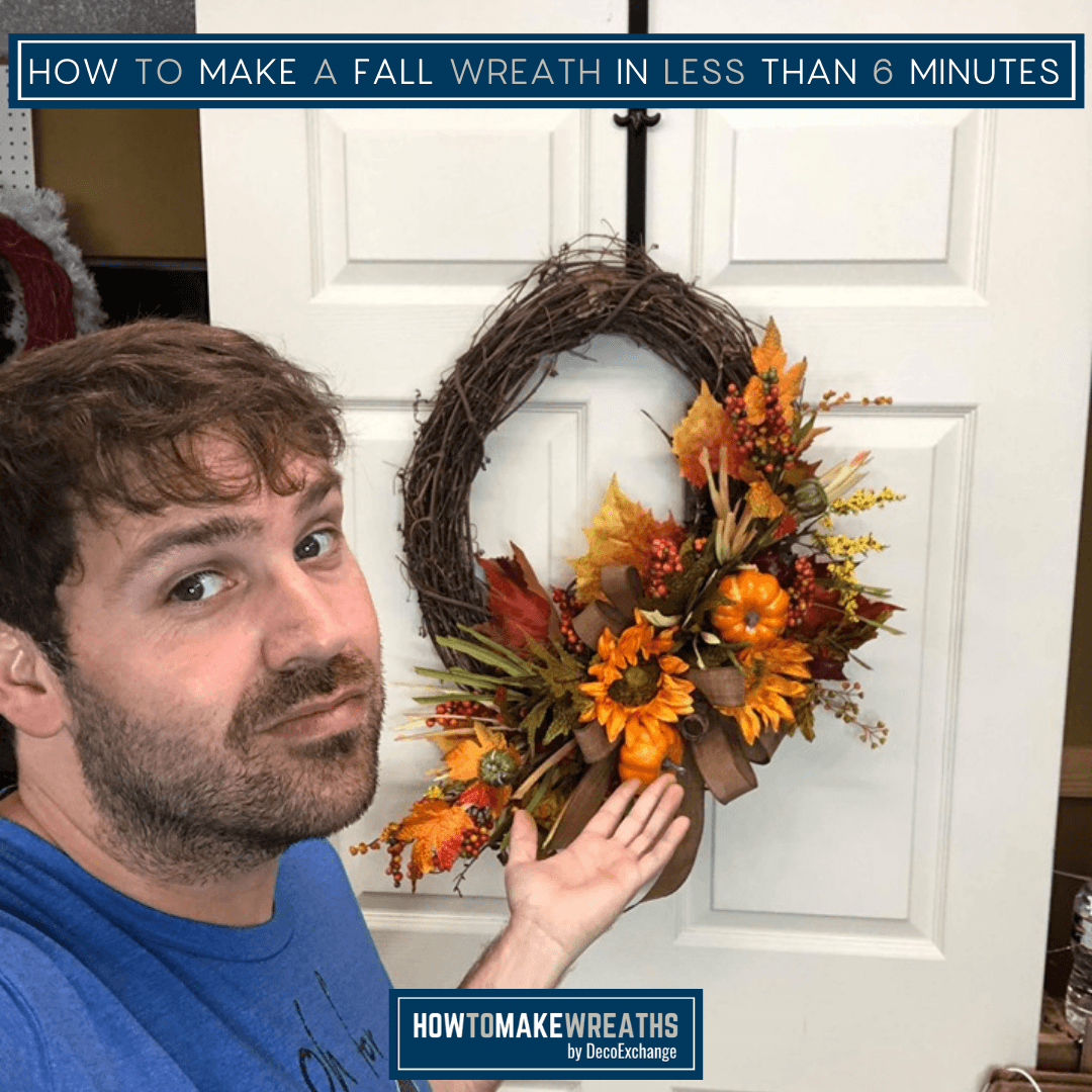 Quick fall wreath tutorial