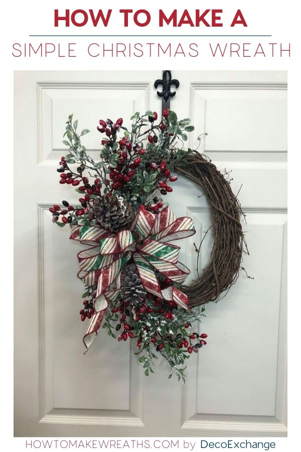 How to Make a Simple Christmas Wreath (1)