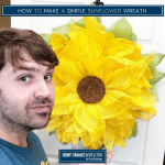How to Make a Simple Sunflower Wreath