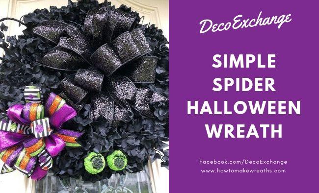 Simple Spider DIY Halloween Wreath
