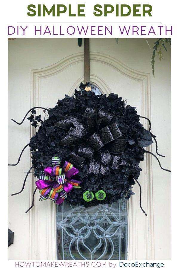 simple spider wreath
