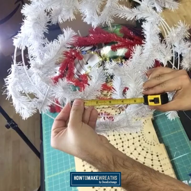 How to Make Your Own Wreath Frame - Wire to wire