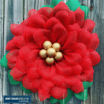 poinsettia wreath closeup