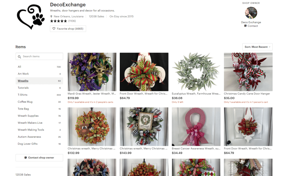 Setting up an Etsy Shop