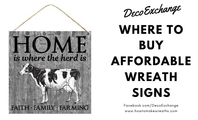 Where to Buy Affordable Wreath Signs