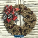 ruffled burlap wreath