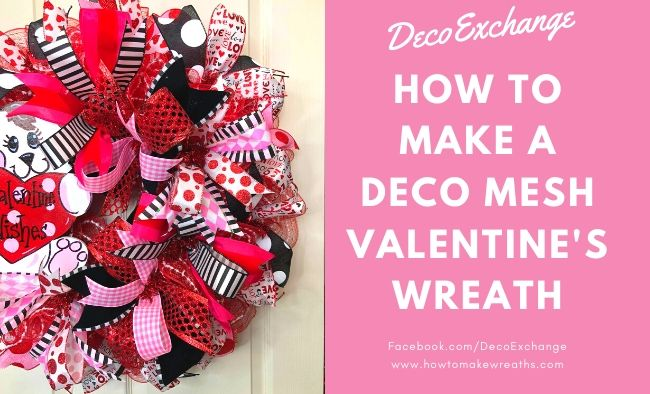 DIY Valentine's Wreath with Cute Puppy Attachment