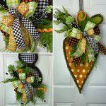 Spring door decor hangers collage image