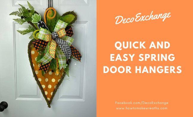 Quick and Easy Spring Door Hangers
