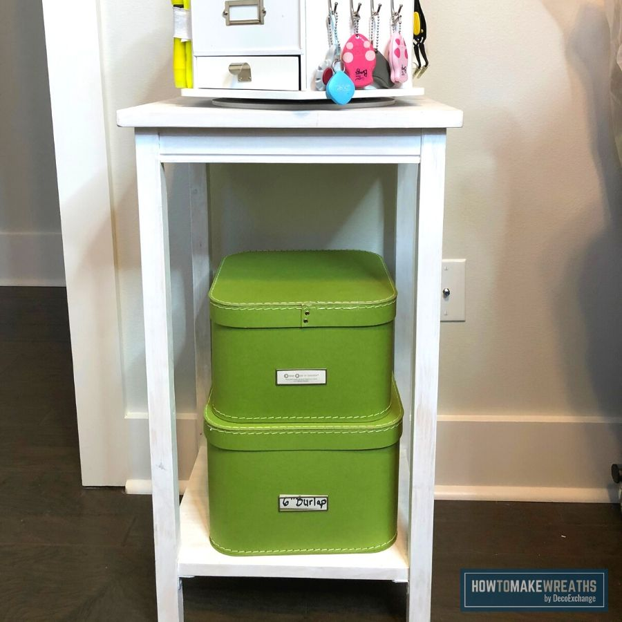 Use an accent color to help pair decor and organization