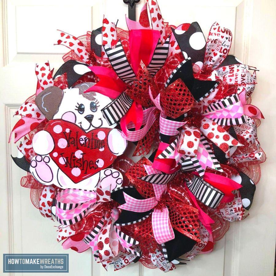 valentine's day wreath video tutorial