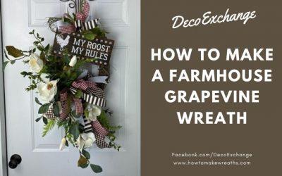 DIY Grapevine Farmhouse Wreath