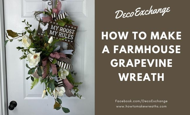 DIY Grapevine Farmhouse Wreath