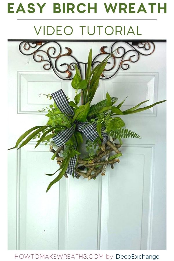 Simple and quick birch wreath