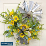 Sunflower and Windmill Wreath