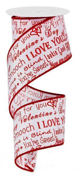 "Valentine's Ribbon 2.5"""