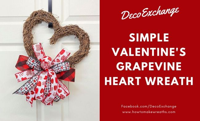 Simple Valentine's Grapevine Heart Wreath