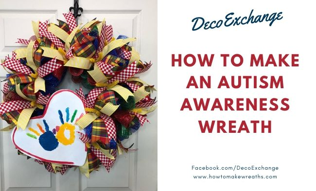 DIY Autism Awareness Wreath