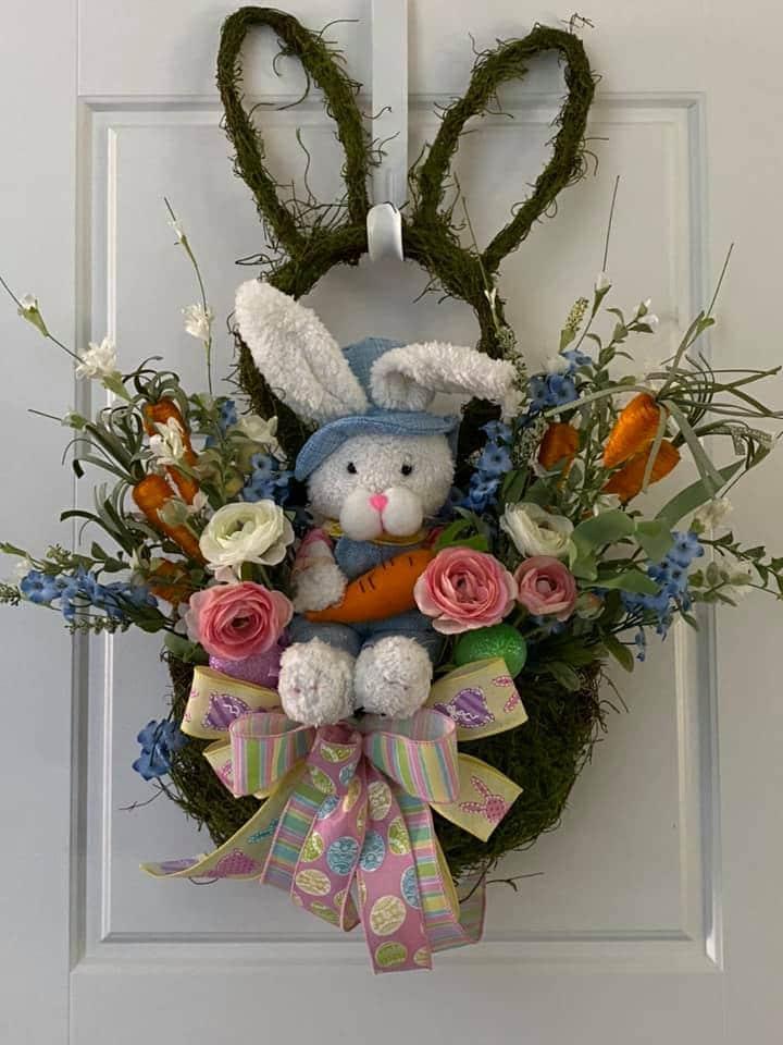 Bunny Basket Wreath - Decorator Crafts