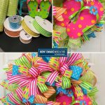 Supplies and Finished Flip Flop Wreath