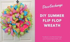 DIY Summer Flip Flop Wreath Tutorial