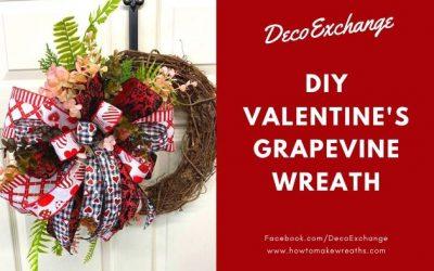 DIY Valentine's Day Door Wreath Tutorial