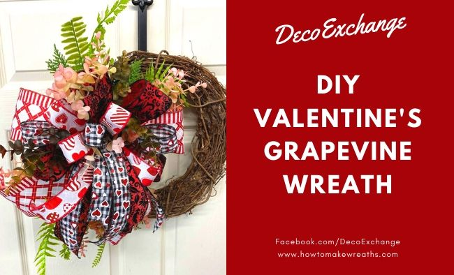 DIY Valentine's Day Door Wreath Tutorial