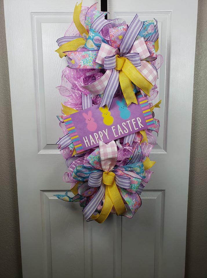 Easter Sugar Bunny Swag - TCT Crafts
