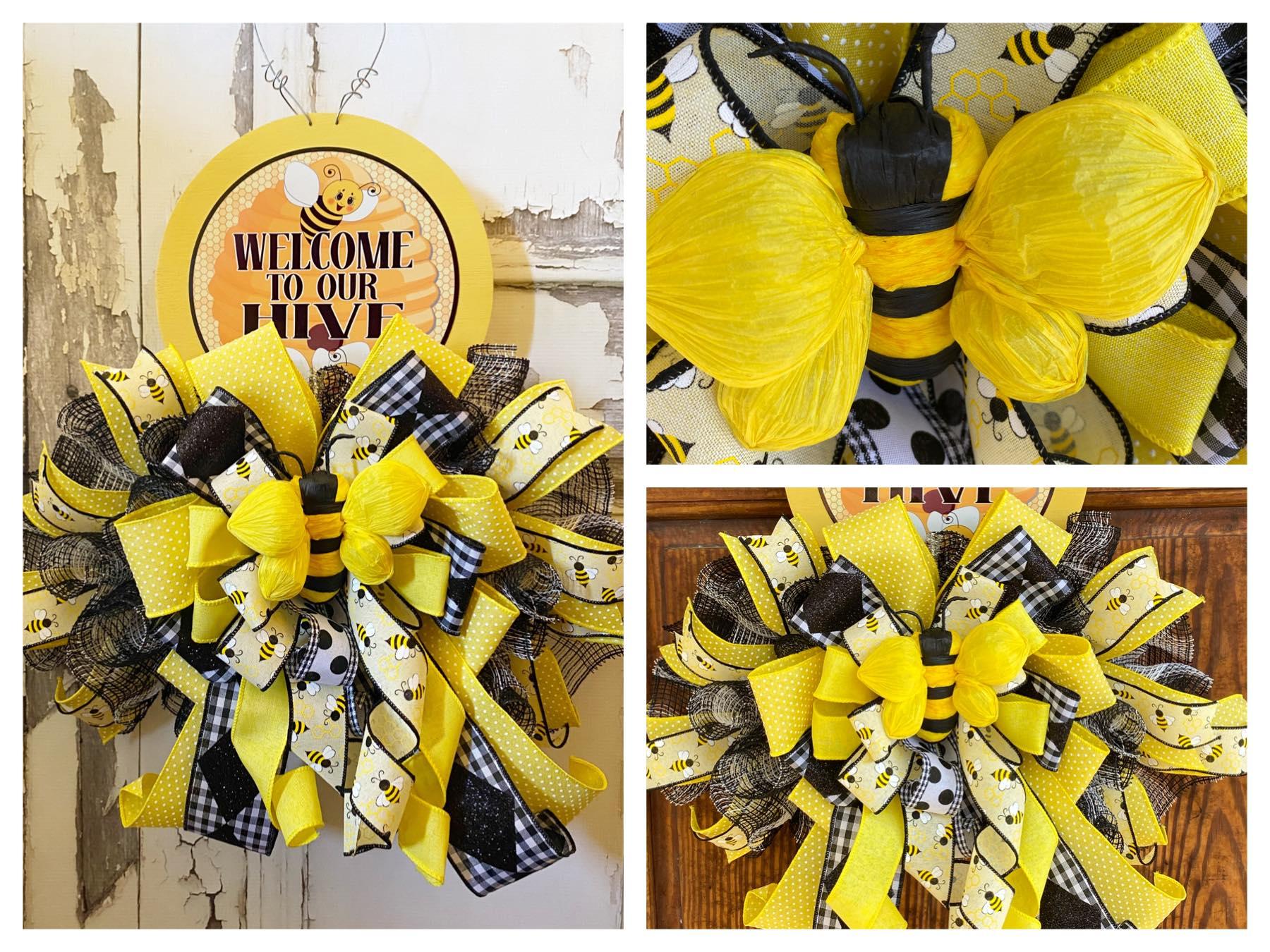 J. Marie Designed - Bee Swag Wreath