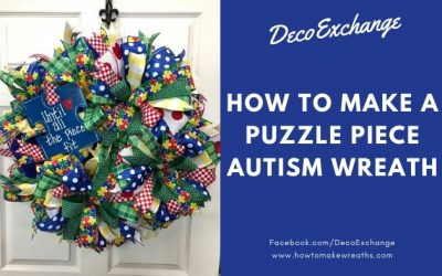 Puzzle Piece Autism Wreath