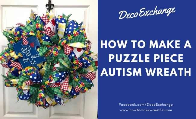 Puzzle Piece Autism Wreath
