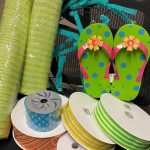 Supplies Needed for a Summer Flip Flop Wreath