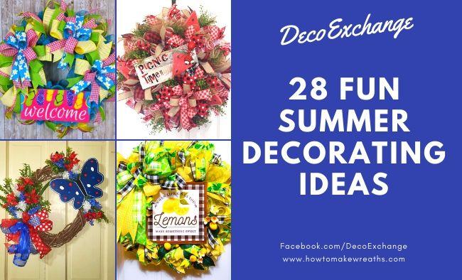 Fun Summer Decorating Ideas That'll Brighten Your Doorway
