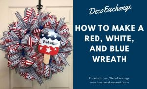 red white and blue welcome wreath