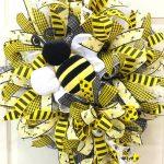 stuffed bee wreath