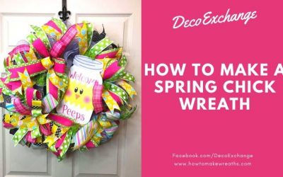 How to Make a Spring Chick Wreath